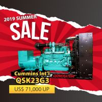Cummins International QSK23G3 Diesel Generator Set Open Type Genset, Prime 648kW, 50HZ & Prime 727kW, 60HZ
