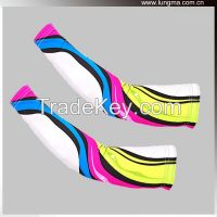 Lycra custom printed compression Running arm sleeves