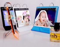 new style acryl calender stand photo frame calender display