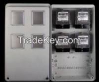 SMC/FRP Meter Box for 4 Single Phase Electronic Meter