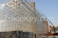 scaffloding pipes, couplers, metal planks, formwork system, frame system...