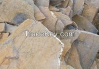 slate stone, natural, gray, dark gray, yellowish pink (Bodrum stone)