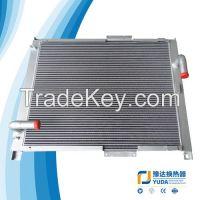 Excavator heat exchanger