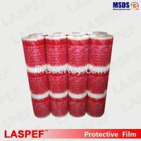 LASPEF clear PE protective film with red logo printed