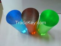 transparent colored acrylic rod
