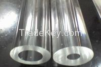 large diameter clear hollow acrylic tube