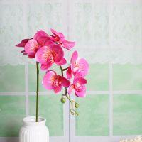 China factory making wedding decor flower silk artificial phalaenopsis