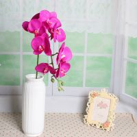 China factory making wedding decor flower silk artificial phalaenopsis