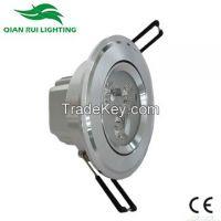 QR hot sale Aluminum 3W 240lm�±5% LED ceiling light with CE CRIâ�¥85