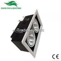 QR Led Grille Lighting New Product 2 Heads 2*7W 1100lm�±5% CRIâ�¥85