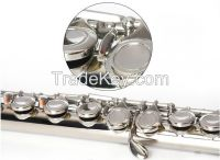 16 closed key Flute--silver plated-offet G key , extra curved headjoint