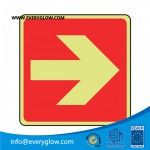 photoluminescent fire safety sign/ road safety sign/ reflective and glow in the dark safety sign