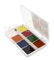 8 watercolor set, square pans, plastic box, with hanger,