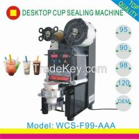 CE approved plastic cup sealing machine for bubble tea on sale
