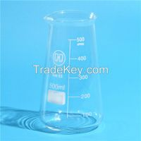HUAOU conical glass beaker with spout , Boro 3.3 Glass