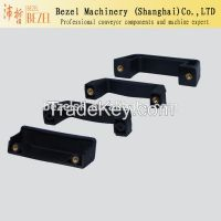 Reinforced nylon door hinges for packing machine