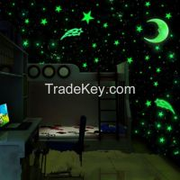 Luminous Stars Fluorescent Wall Stickers Bedroom Decoration