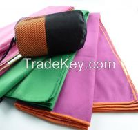 SA2, 80 polyester 20 polyamide microfiber sports travel towel suede microfiber towel