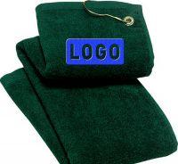 SG1, custom various pure cotton velvet embroidered plastic hook golf towels