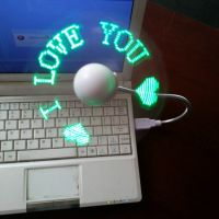 SF2,Newest program Flashing Message Usb Led Fan,Cheap Flexible USB LED Flashing Fan,Promotion gift LED USB Flashing Fan