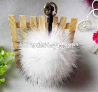 Fashion raccoon fur pom pom ball keychain accessory