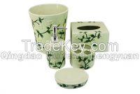 100% handpainted ceramic bathroom set