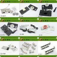 Furniture sliding double rollers and wheels for cabinet sliding door