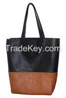 Fashion color block tote bag