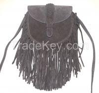 Fashion tassel shoulder bag with flap