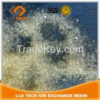 polystyrene matrix of gel type strong acid cation exchange resin