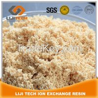 polystyrene matrix of gel type strong acid cation exchange resin