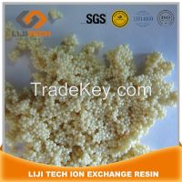 gel type strong acid cation exchange resin