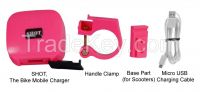 SHOT the bike mobile charger Pink