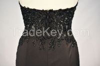 2017 evening dress embriodery and stone sexy back