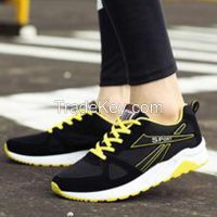 Cheapest Sneakers New Korean Fashion Breathable Mesh Casual Sports Running Shoes Black Yellow