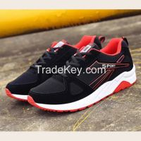 Cheapest Sneakers New Korean Fashion Breathable Mesh Casual Sports Running Shoes Black Red
