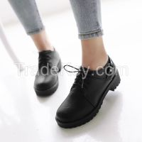 Cheapest Shoes 2016 Spring Hot Wholesale PU Leather Round Toe Women Ca