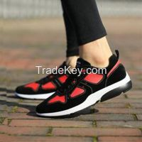 Cheapest Sneakers New Korean Fashion Mixed Colors Student Sports Casual Traveling Shoes Black Red