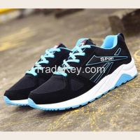 Cheapest Sneakers New Korean Fashion Breathable Mesh Casual Sports Running Shoes Black Blue