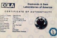 Natural black diamond