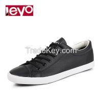 LEYO 2016 woman casual shoes black white  lace-up sneaker