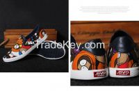 LEYO summer man shoes navy,black,canton print, pu piping casual shoes classic slip-on sneaker