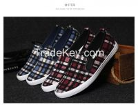 LEYO 2016 summer man shoes navy , wine checkered with pu piping casual shoes classic slip-on sneaker