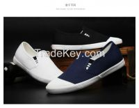 LEYO summer man shoes navy, black, white sold canvas casual shoes classic slip-on sneaker