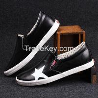 LEYO 2016 summer man shoes star print Pu casual shoes fashion slip-on sneaker