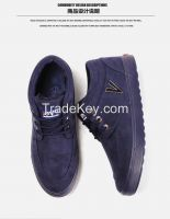 LEYO winter man shoes fake leather casual shoes fashion lace-up sneaker