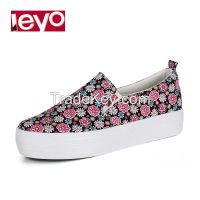 LEYO 2016 summer woman casual shoes canvas slip-on sneaker