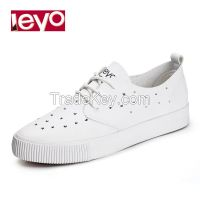 LEYO 2016 summer woman casual shoes laser punch pu lace-up sneaker