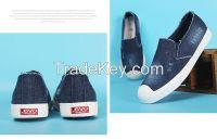 LEYO women casual shoe denim slip-on sneaker