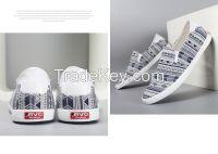 LEYO summer man shoes vintage textile casual shoes fashion slip-on sneaker